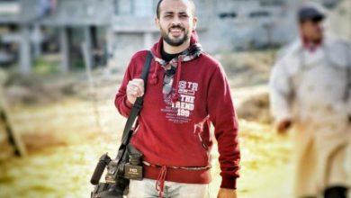 صورة الشهيد الصحفي أحمد أبو حسين