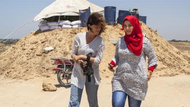 صورة تجربة منسقة صحفية في غزة
