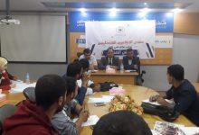 """صورة """"منتدى الإعلاميين"""" يستعرض تجارب صحافيين لطلبة الإعلام بغزة"""