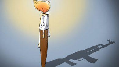 صورة كاريكاتير الشعلة