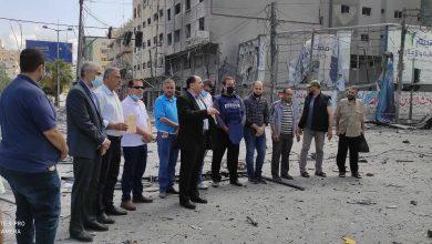صورة وقفة احتجاجية تنديدا باستهداف الاحتلال برج الجوهرة